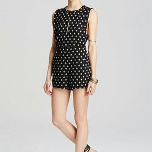 NWT FREE PEOPLE Black & White Romper Size Small